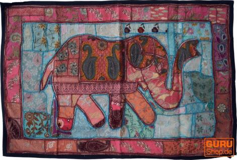 Indischer Wandteppich Patchwork Wandbehang, Einzelstück 150*100 cm - Muster 52