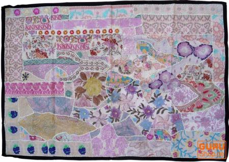 Indischer Wandteppich Patchwork Wandbehang, Einzelstück 150*100 cm - Muster 15