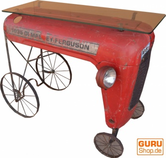 Traktor Sideboard mit Glasplatte