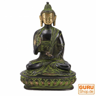 Buddha Statue aus Messing Abhaya Mudra 14 cm - Modell 2