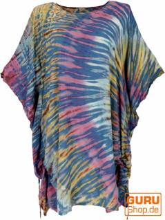 Batik Kaftan, Ibiza-Style Tunika, Boho Bluse, Damen Maxibluse - petrol