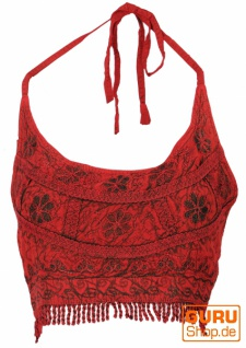 Goa Top, Psytrance Bandeau Top - rot