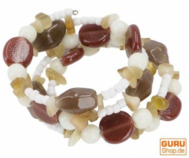 Boho Perlenarmband, Perlen Armreifen