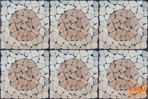 Mosaikfliese mit Kreis aus Marmor (Mo-09) - Design 22 - Vorschau 3