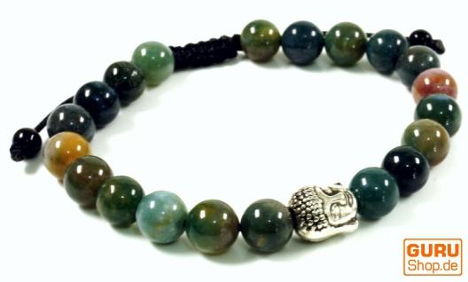 Mala, Buddha Armband , Handmala Achat grün - Modell 26