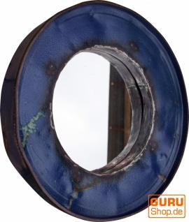 Metall Spiegel aus recyceltem Faß Deckel aus Metall, Vintage Deko Spiegel - Farbe 3