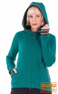 Jacke mit Kapuze aus Bio-Baumwolle / Chapati Design - Bottle green