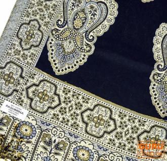 Indischer Schal mit Paislay Muster - schwarz - Vorschau 2