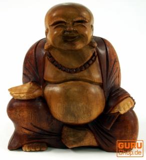 Geschnitzter Lucky Buddha 20 cm - Modell 7