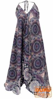 Boho Sommerkleid, Magic Dress, Maxikleid, Neckholder Strandkleid - schwarz/flieder