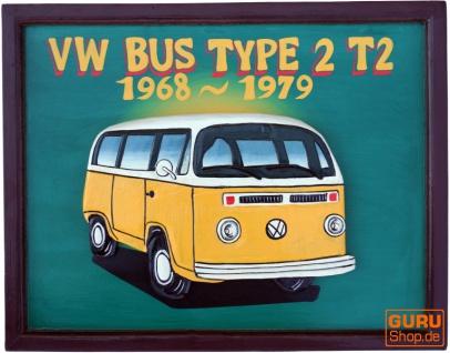 Retro Werbeschild 3-D `VW Bus`