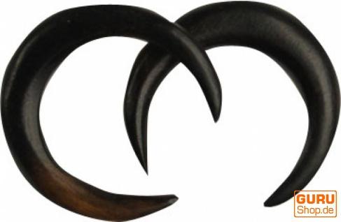 Holzohrring, Dehnung Spirale, Tunnel Ohrring Plug - Model 6