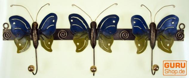 Hakenleiste mit Figuren, Ethno Kleiderhaken, Metall Kleiderhaken - Schmetterling