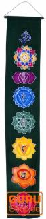 Boho Wandbehang, Batik Wandschmuck - Mandala dunkelgrün