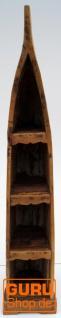 Boot Regal, Weinregal, Bücherregal aus altem Bootsrumpf 200 cm - Boot 14 - Vorschau 2