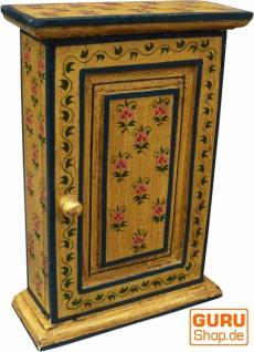Schlüsselkasten, bemalte Schlüssel Ablage Box mit Tür - Muster 7 - Vorschau 1
