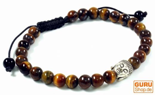 Mala, Buddha Armband, Handmala - Tigerauge - Modell 23