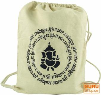 Turnbeutel, Rucksack, Sportbeutel, Freizeitbeutel, Goa Beutel, Hippie Beutel Ganesh