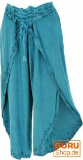 Palazzohose, Boho Hosenrock, Orienthose, Sommerhose - türkisblau