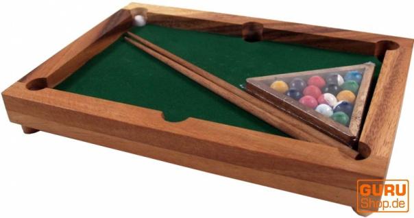 Brettspiel, Gesellschaftsspiel aus Holz - Billiard
