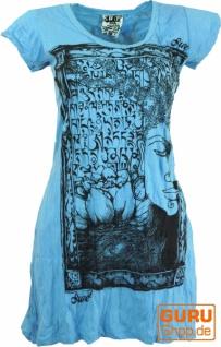Sure Long Shirt, Minikleid Mantra Buddha - hellblau