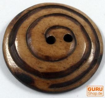Tibet Knopf aus Horn, Knopf Spiorale - 1