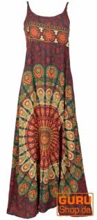 Sommerkleid, Boho Maxikleid mit Schlitz - bunt/Mandala