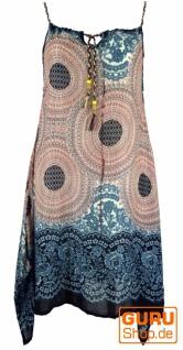 Boho Mandala Midikleid, Trägerkleid, Strandkleid für starke Frauen - sand