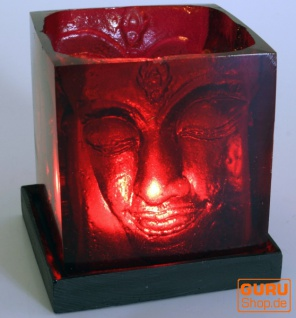 Teelicht Buddha - rot