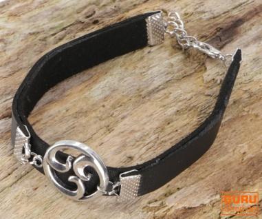 Ethno Triskele Armband - schwarz