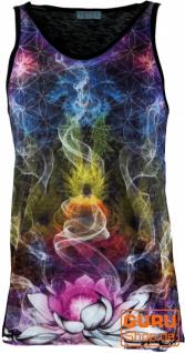 Psytrance Tank Top, Männer Top - Mandala Blume des Lebens