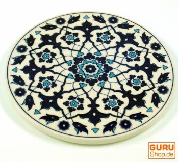 Orientalischer Keramikuntersetzer, runder Untersetzer mit Mandala Motiv - Muster 11
