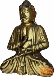 Großer Holzbuddha, Buddha Statue, Handarbeit, gold - Modell 2