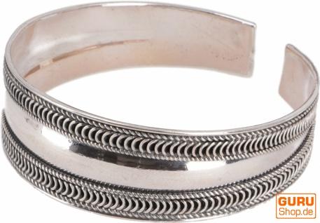Boho Silber Armreifen, indische Armspange - Modell 6