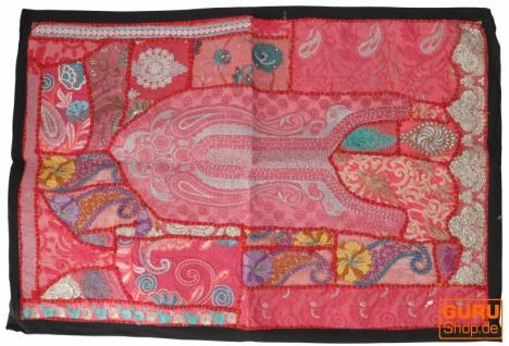 Indischer Wandteppich Patchwork Wandbehang/Tischläufer Einzelstück 90*65 cm - Muster 17