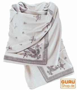 Indischer Schal / Stola, bedrucktes Ethno Tuch/Decke - Modell 4