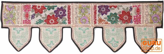Orientalischer Wandbehang, indischer Toran, Wimpel Wandteppich, Wanddekoration, Tür Deko Einzelstück 90*30 cm - Design 13