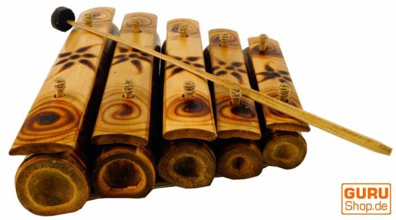 Tisch Klangspiel, Musik Percussion Rhythmus Klang Instrumente aus Bambus - Modell 3 - Vorschau 2