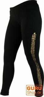 Psytrance Damen Leggings, Stretch Hose für Frauen, Yogahose - schwarz