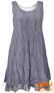 Boho Krinkelkleid, Lagenkleid, Minikleid, Sommerkleid, Strandkleid - taubenblau