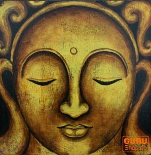 Kleiner Buddha auf Leinwand 40*40 cm - Motiv 1