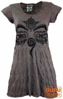 Sure Long Shirt, Minikleid Buddhas Augen - taupe