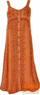 Besticktes Boho Sommerkleid, indisches Hippie Trägerkleid - rostorange/Design 20