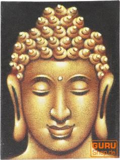 Kleiner Buddha auf Leinwand 30*40 cm - Motiv 19 - Vorschau