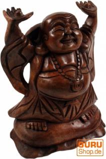 Lucky Buddha Statue 20 cm - dunkel - Modell 2