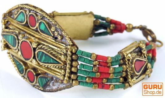 Indisches Armband, Ethno Armband mit Halbedelsteinen - Modell 1