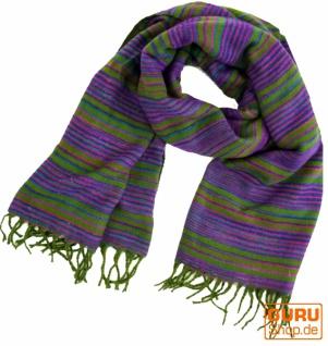 Weicher Goa Schal, großes Schultertuch, indischer Schal/Stola - grasgrün