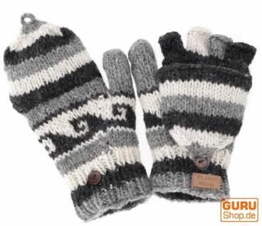 Handschuhe, handgestrickte Klapphandschuhe, Fingerhandschuhe - Modell 6