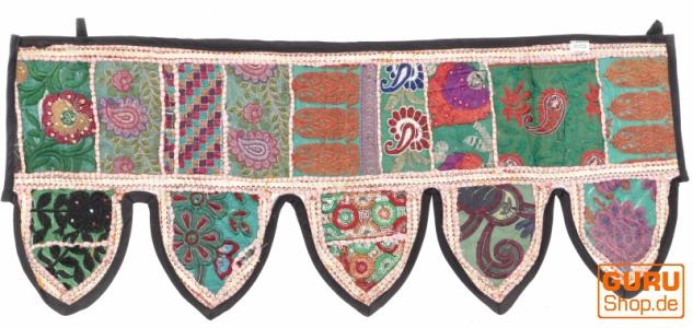 Orientalischer Wandbehang, indischer Toran, Wimpel Wandteppich, Wanddekoration, Tür Deko Einzelstück 85*35 cm - Design 7