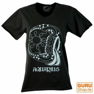 Sternzeichen T-Shirt `Wassermann` - schwarz